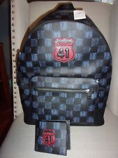 NWT Coach West Backpack & Graphic Checker Print & Wallet  F23249 MSRP $800