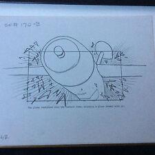 TOYS 1992 MOVIE ORIGINAL STORYBOARD ART CARL ALDANA ROBIN WILLIAMS Scene #170B
