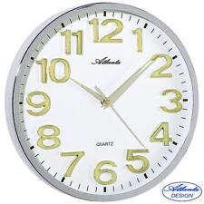 Atlanta Wall Clock Quartz self illuminated Digits watch Workshop ø approx. 30 cm