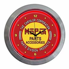 Neonetics 8MPRED Mopar Red Vintage Neon Clock Game Room Decor