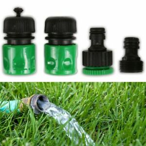 4Pc GARDEN HOSE CONNECTOR SET Water Accessories Tap Adapter Fitting Attachment