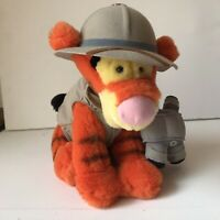 Walt Disney World Winnie the Pooh Tigger Plush Tiger Safari Hat Vest & Binocs