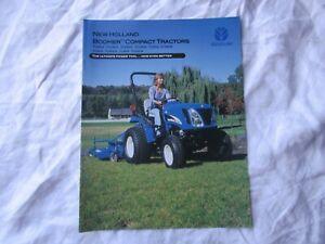 New Holland lawn garden tractor brochure TC21DA TC24DA boomer compact tractors
