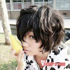 Hitman Reborn Lambo Katekyo Black Costume Cosplay Wig