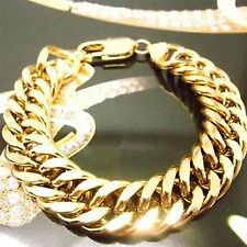 """10"""" Chain No Stone 18K Gold Plated Men Bracelet or Lady' Anklet & Xmas Gift Box"""