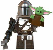 ORIGINAL STAR WARS The Mandalorian+Child (BABY YODA) CUSTOM Lego Minifigure