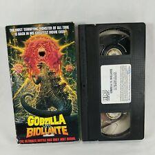 Godzilla VS Biollante VHS HBO 1989 Horror Kaiju Toho
