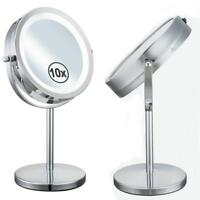 Makeup Mirror With LED Lights 7 Inches Desktop Double Side Magnification Mirrors