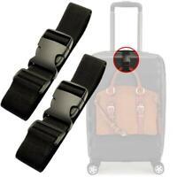 Black Small Travel Luggage Straps Short Adjustable Suitcase Belt Buckle K6R K4G4