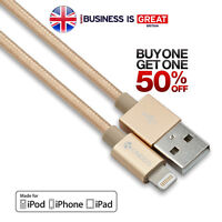 Genuine Apple MFi Certified Long Braided Lightning Cable Charger for iPhone 1.5m