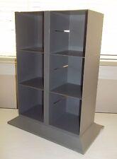 Gray Plastic CD or Cassette Tabletop Storage Rack, Holds 72 CDs or 60 Cassettes