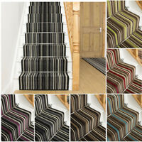 EXTRA LONG BLACK BLUE BROWN GREEN PURPLE RED STAIR STAIRCASE RUNNER CARPET MAT