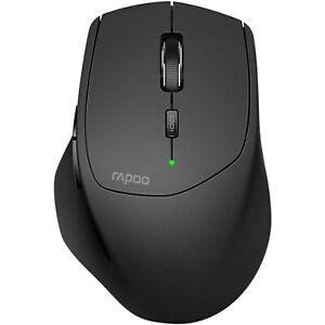 Rapoo Wireless USB Optical Sensor MT550 Standard Multi-Mode Mouse Black