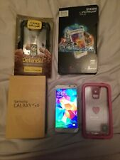 Samsung Galaxy S5 - 16GB Verizon white. lifeproof x2 & otterbox