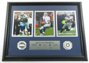 Owens Romo Witten Framed Display 3 Photos 2 Silver Coins Highland Mint DF025988