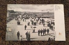 Vintage Postcard Posted 1907 B&W 7437 Boardwalk Promenaders Asbury Park NJ