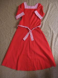 Robe Rudy paris Vintage rouge Femme Années 80 Ancien dress - 42