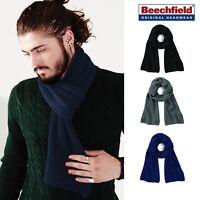 Beechfield Metro Knitted Scarf - Warm winter knitted winter accessory B469