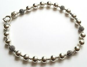 """LAGOS Stunning BOLD Caviar LARGE BEADED 925 Sterling Silver NECKLACE 19.5"""" 105g"""