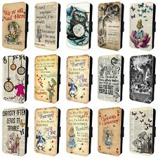 ALICE IN WONDERLAND AMAZING LEATHER FLIP PHONE CASE COVER for iPHONE 4 5 6 7 8 x