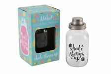 Aloha Novelty Glass 3 Piece Cocktail Shaker Drink Mixer For Parties