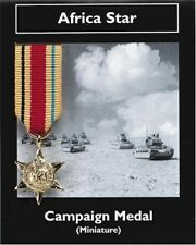 Africa Star -  Campaign Medal - Miniature Reproduction