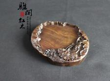 Lotus Pattern Inkstone Chinese Wood Hand-carved Inkstone Calligraphy Tools Gift