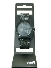 New Men Neff Daily Black Gray Floral Print Watch Style#NF0208