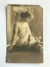 Old retro postcard Germany Miss will be pretty naked sensual