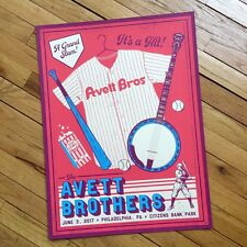 The Avett Brothers 6/3/17 Poster Philadelphia PA Signed & Numbered #/150