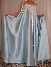 VTG Lingerie Silky Satin Slip FULL Sweep Negligee Babydoll LONG Nightgown M- 3X