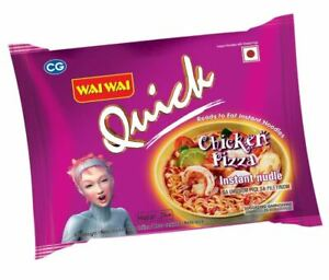 Wai Wai Quick Instant Chicken Pizza  Flavour Noodles(Pack of 30)