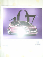 Peugeot 107 range brochure Jan 2012