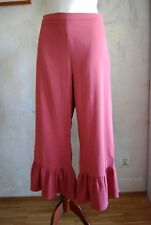 ASOS dusty pink trousers with frill hem UK 16