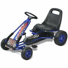 vidaXL Skelter met Pedalen Verstelbare Zitting Blauw Kart Go-Kart Speelgoed