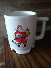 Frankoma Yale Cleaners Guys N White Hat 1998 Christmas Santa Claus Coffee  Mug