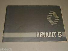 Operating Instructions Manual RENAULT R 5/TL/GTL/TS/Société, Stand 03/1981