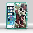 For Apple iPhone 5 5S SE TUFF MERGE HYBRID Case Skin Phone Cover + Screen Guard