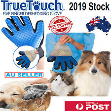 Pet Brush Glove Dog Cat Hair Grooming Removal Cleaning Touch Magic Massage AUS