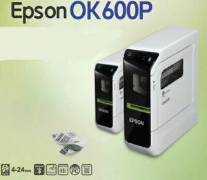 Epson Label Printer PRIFIA OK600P PC Connect Barcode QRCode 4~24mm Usb Bluetooth