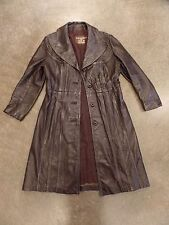 Vintage Brown Leather Trench Coat 24K Leather by dan di modes Women's Jacket