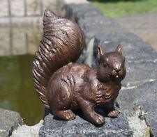Edelrost Streifenhörnchen Metall Gartenfigur Eichhörnchen Rostfigur