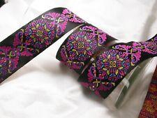 "Regal Plume Jacquard Ribbon 2"" (50mm) 6 color options 3 Yards & up"