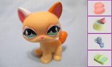 LITTLEST PET SHOP #626 WALKING YELLOW SPARKLE CAT+1 FREE Accessory 100% Authen