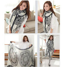 Womens Ladies Long Soft Deer pattern Scarf Wrap Large Winter Shawl Stole Scarves