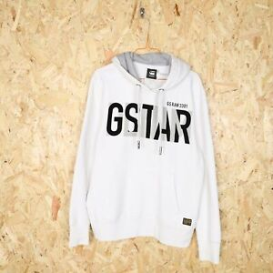 G STAR RAW Big Logo Hoodie White Large Grade B