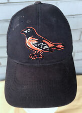 Baltimore Orioles MLB Dirty Well Worn Beat Up Adjustable Black Baseball Cap Hat