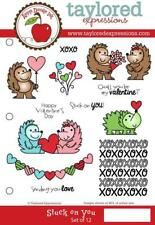 TAYLORED EXPRESSIONS  STUCK ON YOU  RUBBER STAMPS(SET OF 12) TEFS148