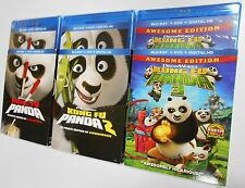Kung Fu Panda Collection 1, 2 & 3 - Blu-ray + DVD + Digital HD Movie BRAND NEW