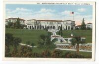 Postcard Buster Keaton's Italian Villa Beverly Hills CA